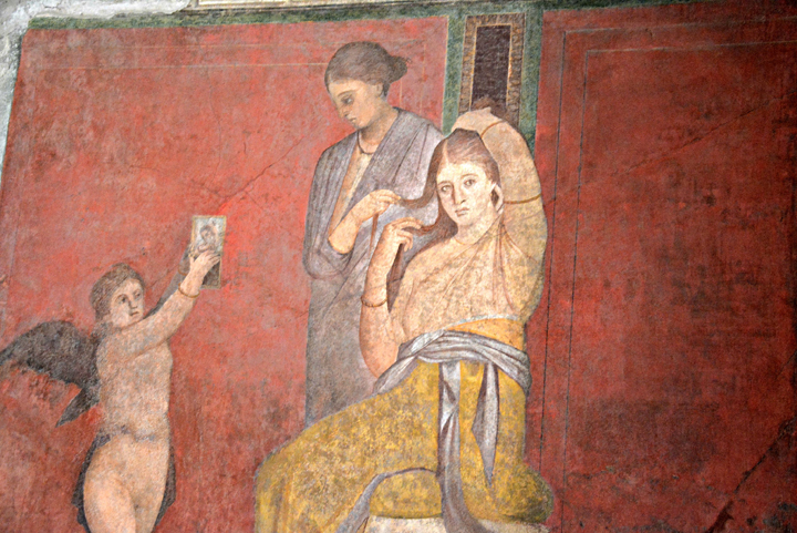 Bride Dressing, Village of the Mysteries in Pompeii. Bottega – MIBACT.