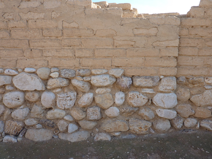 Iron Age wall at Tel Beersheba. Photo courtesy of Carol Meyers.