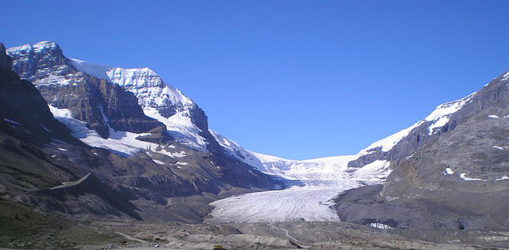 Athabasca glacier and Mount Andromeda in Jasper National Park