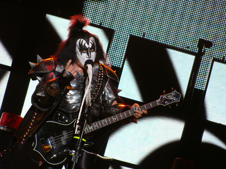 Gene Simmons performing at Azkena Rock Festival, 2010. Photo credit: Alberto Cabello, via Flickr Commons.