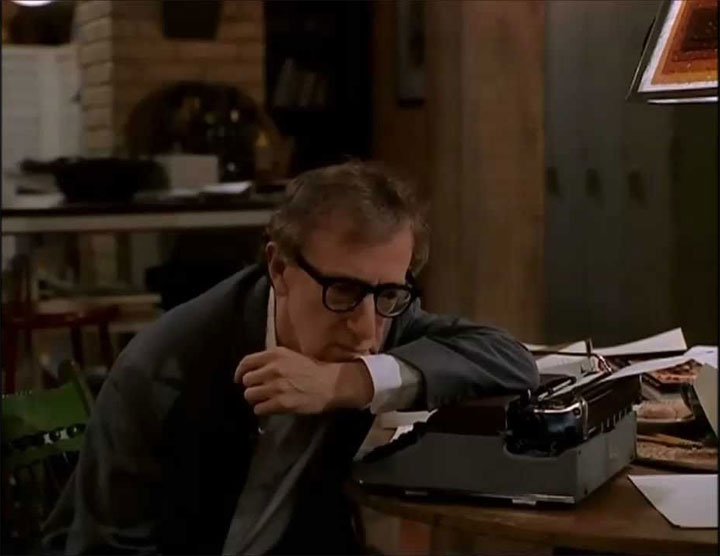 Woody Allen as Harry Block in Deconstructing Harry (1997), film still.