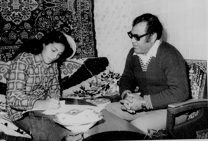 Laluzer Farizada recorded by his daughter. Courtesy of the Israel Folktale Archives named in honor of Dov Noy (IFA) at the University of Haifa.