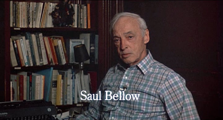 Saul Bellow in Zelig (1983), film still.