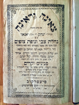 Title  of the author's copy of the Tsene-renefrom the Khust Synagogue. Courtesy of the author.