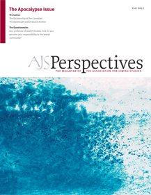 AJS Perspectives Fall 2012: The Apocalypse Issue