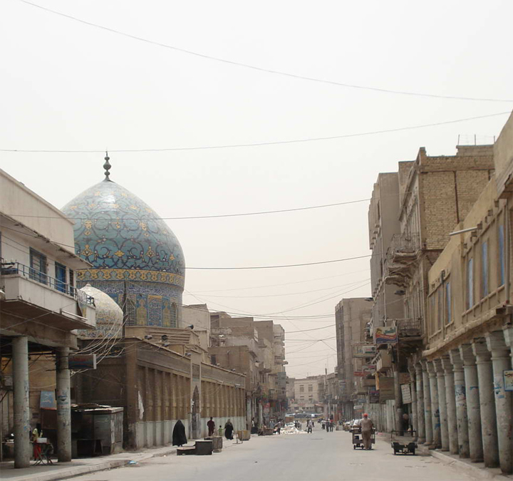 Rashid Street, Baghdad, Iraq, 2008. Photo by Wikimedia Commons user Zzztriple2000.