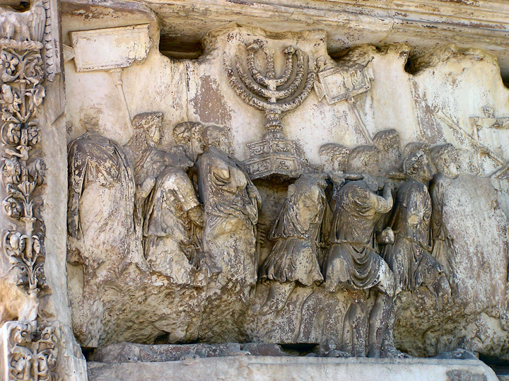 Arch of Titus, Rome, detail. Photo by Gunnar Bach Pedersen via Wikimedia Commons.