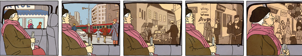 Fall 2014: The People's Issue - Detail from The Property by Rutu  Modan (Drawn and Quarterly, 2013), 48. Courtesy  of the publisher.