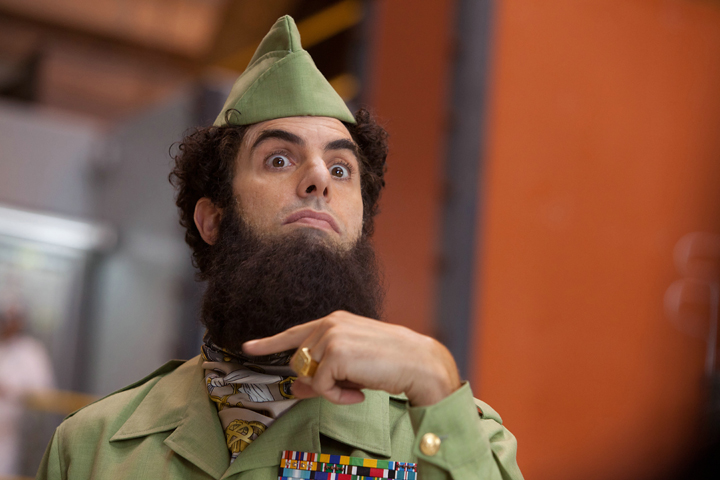 Still from The Dictator. Courtesy of Paramount Home Media Distribution.