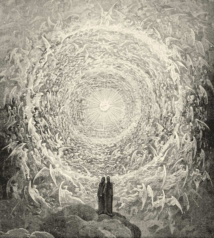 Gustave Doré, The Saintly Throng in the Shape of a Rose